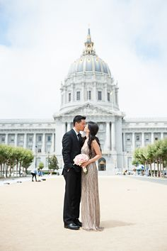 Photography: Vincent Au Photography - vincentauphotography.com/index2.php  Read More: http://www.stylemepretty.com/california-weddings/san-francisco/2014/03/20/san-francisco-city-hall-elopement-2/