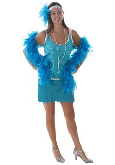 This exclusive Plus Size Sequin & Fringe Turquoise Flapper costume makes a great addition to any group costume. Get ready to look like you've just stepped out of the Jazz Age! Available in sizes through Plus Size Flapper Costume, Flapper Girl Costumes, 1920s Costume, Halloween Costumes For Girls, Costumes For Women, Fun Costumes, Flapper Era, Costume Ideas, Flapper Makeup