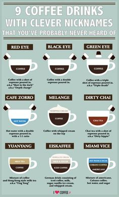 9 Clever coffees <3