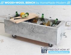 DIY Concrete Ice Chest. Or you could make it a planter without the spout.