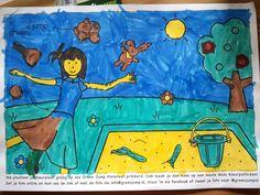 Kleine van 5,5 jaar van Theun heeft ook onze kleurplaat ingekleurd!