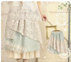 Vintage Lace Collage Skirt