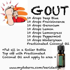 Essential Oils For Gout, Essential Oil Diffuser Blends, Essential Oil Uses, Young Living Essential Oils, Easential Oils, Doterra Oils, Doterra Blends, Gout Relief, Aromatherapy