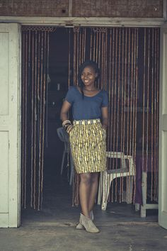 Sweet Peas Pocket Skirt from One Mango Tree, Uganda. Available here. For daily shopping updates on styles like this, follow here!