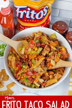 Frito Taco Salad, Taco Salad Recipes, Taco Salads, Taco Salad With Fritos, Fruit Salads, Taco Taco, Savory Salads, Mexican Salads, Mexican Food Recipes