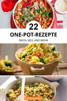 Galerie bearbeiten One-Pot-Rezepte Whole Grain Rice, One Pot Pasta, Group Meals, Outdoor Cooking, Fruits And Veggies, Healthy Fats, Meal Prep, Clean Eating, Food And Drink
