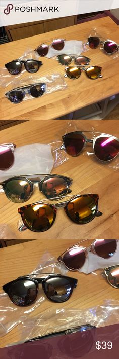 """💞Nip/The """"So Real"""" STYLE Sunnies in Closet/U Pick 💞Nip/The """"So Really"""" Styled after those """"So Real"""" Created by Dior/But These are my """"So Really"""" Style MUCH LESS EXPENSIVE BUT GIVE YOU THE LOOK! U choose the 1 """"So Really"""" For You! NOTE : Silver w Dark Lenses No 1. Already Sold! but pictured below are the similar style some have gold hardware some silver/ANY of these WILL GIVE YOU /that Dior """"So Real"""" Look All NIP/in a case or cloth bag, just Message @toryshop to create UR listing! Tory's…"""