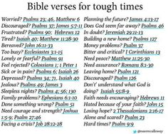 Bible versus for tough times