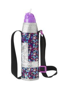 Multi Sequin Initial Water Bottle