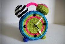 Relógio de crochê