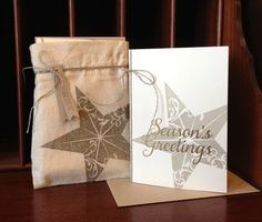 Check out this cool Technique for getting crisp, stamped images onto our Mini Muslin Bags from the Holiday Mini. #stampinup #giftwrap #packaging