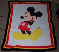 free mickey mouse crochet blanket patterns - Google Search