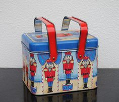 Vintage Christmas Tin Basket Metal Toy by vintageeclecticity, $21.00