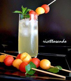 Cocktail analcolico frutta e menta #ricetta di @luisellablog