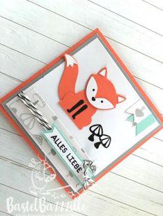 Birthday Card, Geburtstagskarte, Foxy Friends, Ausgefuchst, DSP, Designer Sries Paper, Fox, Punch Art, Pool Party, Calypso, Berlin, SU, Stampin Up, Stempeln, Stanzen, Staunen, BastelBazzzille