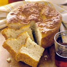 This no-knead bread is baked in a casserole dish. Serve it warm or colled with main dish soups and salads.