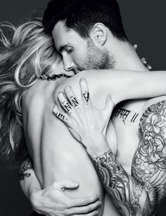 Adam Levine & Anne Vyalitsyna for Vogue Russia Nov. 2011