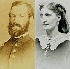 """James E. Love, in an undated photo, and Eliza """"Molly"""" Wilson, circa 1864, the principals involved in love letters written during the Civil War and published by the Missouri History Museum."""