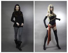 A pretty great comparison/reenactment of the secret identities.
