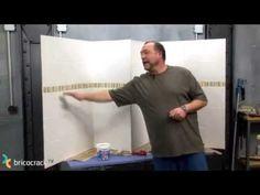 paredes alicatadas antiguas, TAPANDO y pintandocomo nuevas sin obra - YouTube