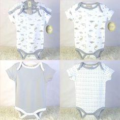 100% algodão recém nascido roupas para bebês de manga curta para meninos e  meninas carroceiros roupas infantis moda coletes tops 3 pc definir preço  barato ... ea95578777