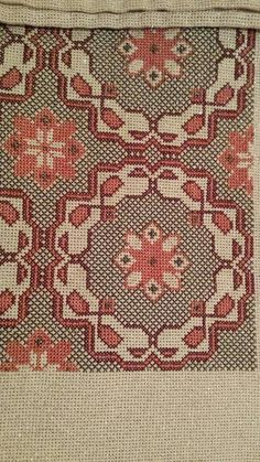 This Pin was discovered by Fat Cross Stitch Embroidery, Embroidery Patterns, Cross Stitch Patterns, Rug Inspiration, Stitch 2, Table Covers, Pattern Paper, Textile Art, Needlepoint