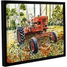 ArtWall Derek Mccrea Old Tractor Gallery-wrapped Floater-framed Canvas, Size: 18 x 24, Green