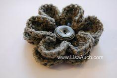 FREE Crochet Patterns: crochet flowers for hats