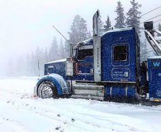 It's a Love/Hate relationship 😒 Do you like or dislike winter? Customised Trucks, Custom Trucks, Big Rig Trucks, Semi Trucks, Tow Truck, Peterbilt Trucks, Ford Trucks, Rolling Coal, Custom Big Rigs