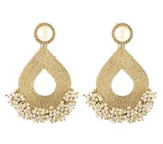 New World Earrings - Brass