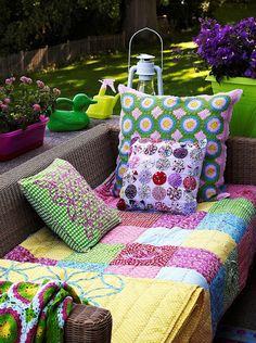 Come sit awhile-comfortable seating for the yard, porch or garden.
