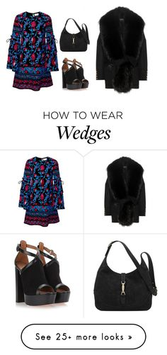 """16.01.06"" by ulrika843 on Polyvore featuring Balmain, Tanya Taylor, Gucci and Aquazzura"