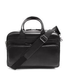 #Estime Labtop Bag Black Leather Bertrand