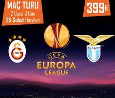 Lazio & Galatasaray UEFA Avrupa Ligi Maç Turu 2 Gece 3 Gün / 25 Şubat Hareket - 399 €!  Bilgi ve Rezervasyon:  ☎ 0212 211 40 20 - 21