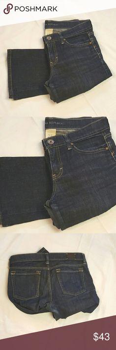 Banana Republic dark denim jeans Banana Republic dark denim jeans, in great condition. Straight leg. 28in inseam  **8bin  (storage note to self) Banana Republic Jeans Straight Leg