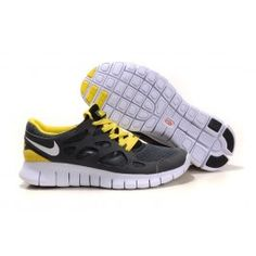 Nike Unisex Free Run+ 2 Grå Gul
