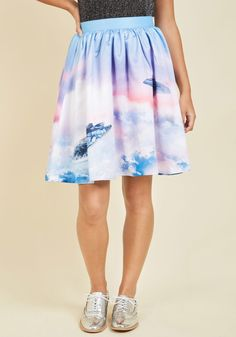 Let's Go for a Bespin A-Line Skirt, #ModCloth