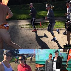 """@swimbikerunbri via Instagram: """"Thank you @sportsbasementsf @bonk_breaker @mirindacarfrae for hosting a Q&A & run today. It was great to see Rinny in action and chat with her. Fan girled so hard with @jessica_thatsme..."""" #LockLaces #WinNeverTie #WhatsYourFit"""