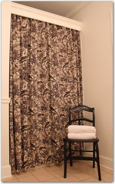 Use trim to hide curtain rod