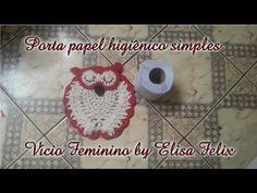 Jogo de banheiro coruja : Porta papel higiênico # Elisa Crochê