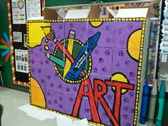 Boxes, painted, arranged and stacked to create this cool mural - Well done!Art With Mr. E