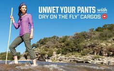 Unwet your pants with Dry On The Fly Cargo Pants.