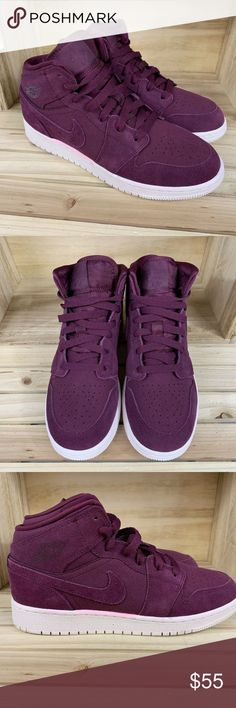 Nike Air Jordan Retro 1 Mid Bordeaux  2 Nike Air Jordan Retro 1 Mid Size ec6c7e69a