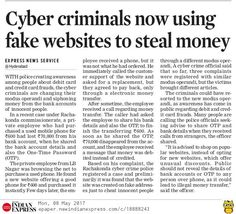 Now the Cyber criminals are using fake website to steal money from innocent peope. Recently Rachakonda Commissionerate has registered a complaint on cyber fraud. In this case,  the person lost 70,000 by sharing his bank details and OTP.