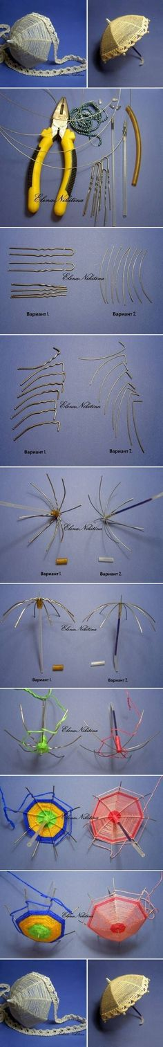 Wire DIY Small Umbrella picture tutorial