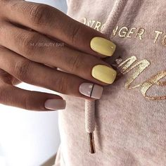 Try some of these designs and give your nails a quick makeover, gallery of unique nail art designs for any season. The best images and creative ideas for your nails. Square Acrylic Nails, Cute Acrylic Nails, Square Nails, Nails Gelish, Manicure And Pedicure, Nails Ideias, Square Nail Designs, Yellow Nail Art, Perfect Nails