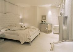 I love this look- I'm inspired to do my bedroom in all white! Not practical with six kids :)