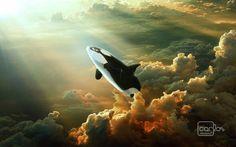 Baleia nas nuvens