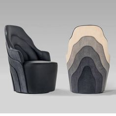 Original design armchair / fabric / leather / plywood COUTURE by F. Färg & E. Blanche BD Barcelona Design