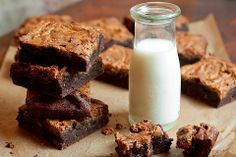 Peanut Butter Kahlua Brownies from Cheese and Chocolate